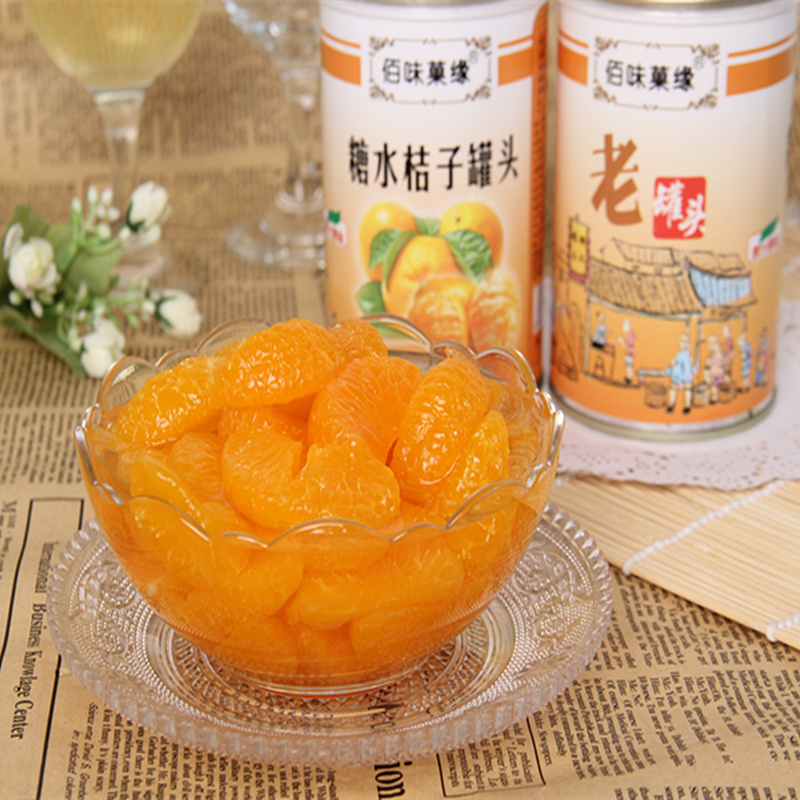 Bai flavor fruit edge of the old canned canned orange syrup 425g * 5 canned tangerine fruit canned
