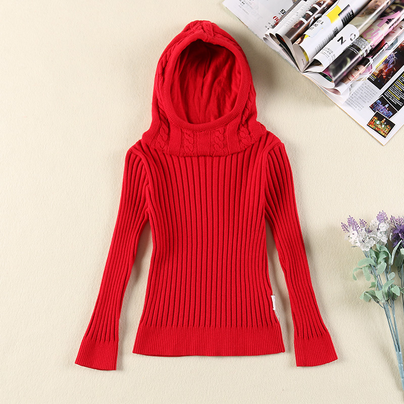 Baihui xin child kids 2016 fall and winter clothes for girls korean hedging hooded sweater girls big virgin winter clothes