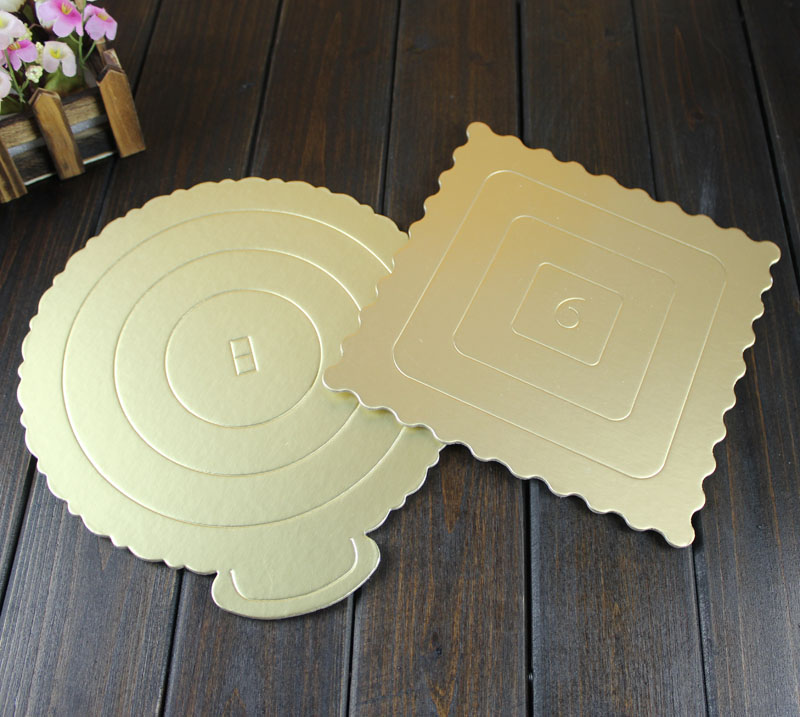 Bakeware square round 4 inch/6/8 inch/10 golden mousse cake pads do Cake essential