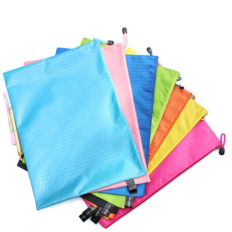 Ball pattern color waterproof paper bags canvas zipper bag kits a5 paper bags paper bags