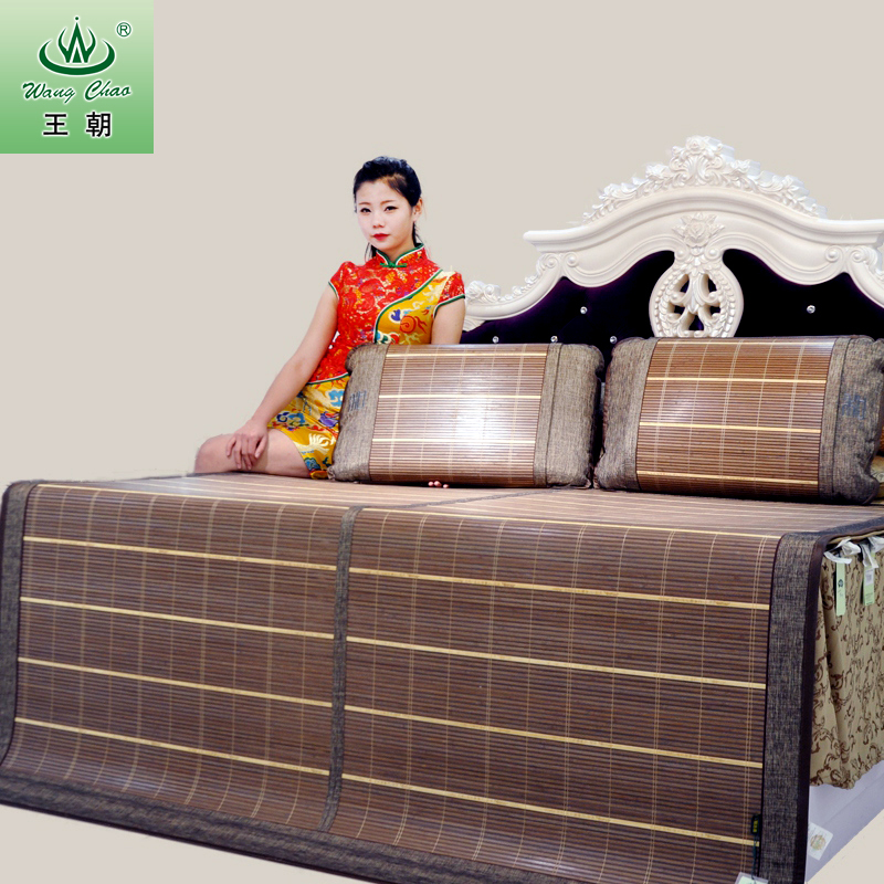 Bamboo and rattan seats sided mat dynasty and the world 1.5 m 1.8 m double folding thickening send parents
