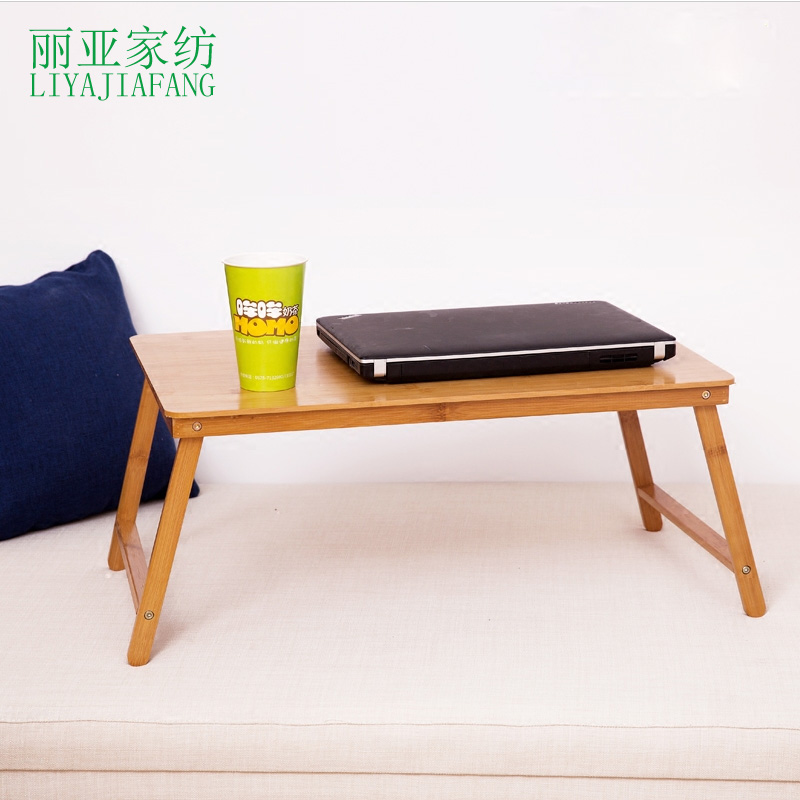 Bamboo folding notebook computer desk bed with study small wood table book mobile modern minimalist shipping