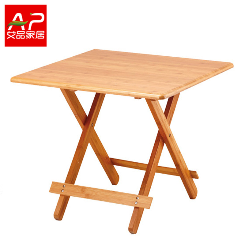Bamboo folding table folding table simple small apartment wood dining table portable table child outdoor table table deals