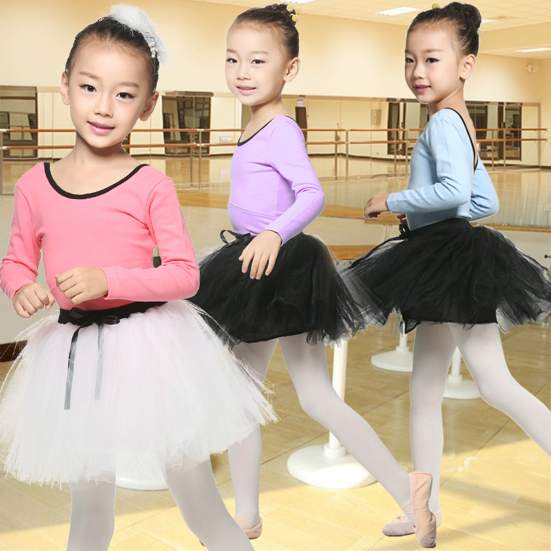 0c09717118cb Get Quotations · Ban qiao flute girls fall and winter long sleeve leotard  ballet dance clothes children practice shaped