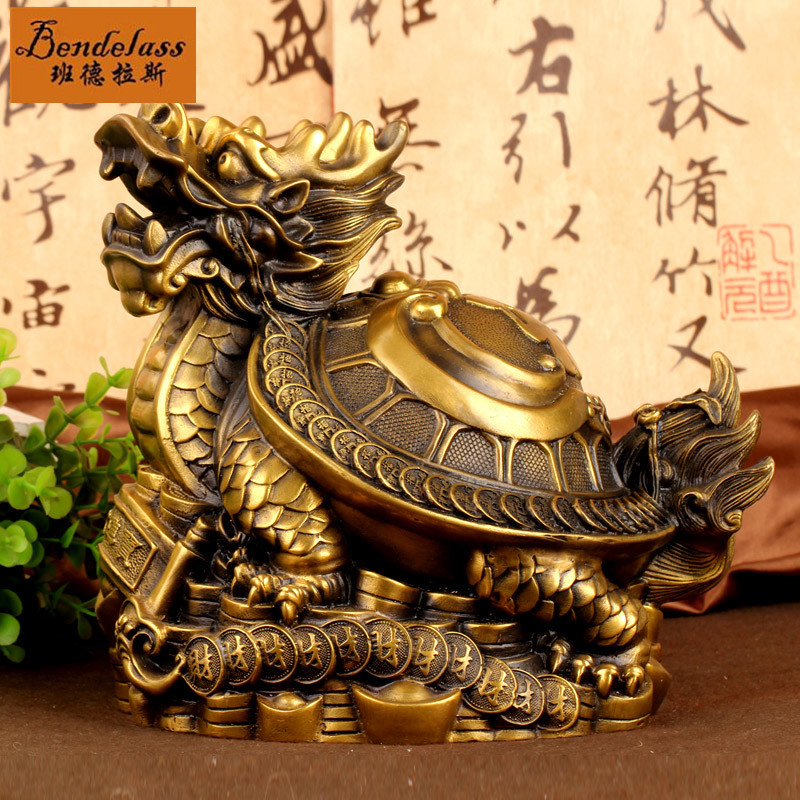 Banderas mother dragon turtle turtle leading copper dragon turtle ornaments gossip money blessing crafts home furnishing