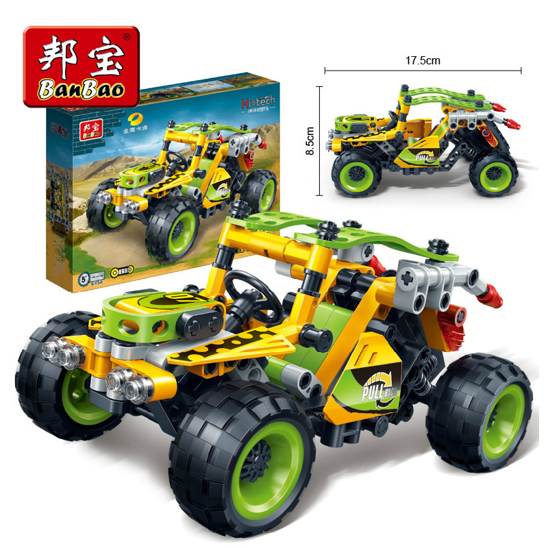 Bang bao creative defended ride new puzzle toy building blocks assembled car model sport utility vehicle 6958