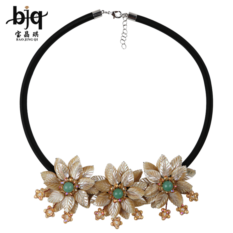 Bao jing qi ladieswear clavicle necklace jewelry japan and south korea in europe and america exaggerated shell flower necklace clavicle chain necklace female