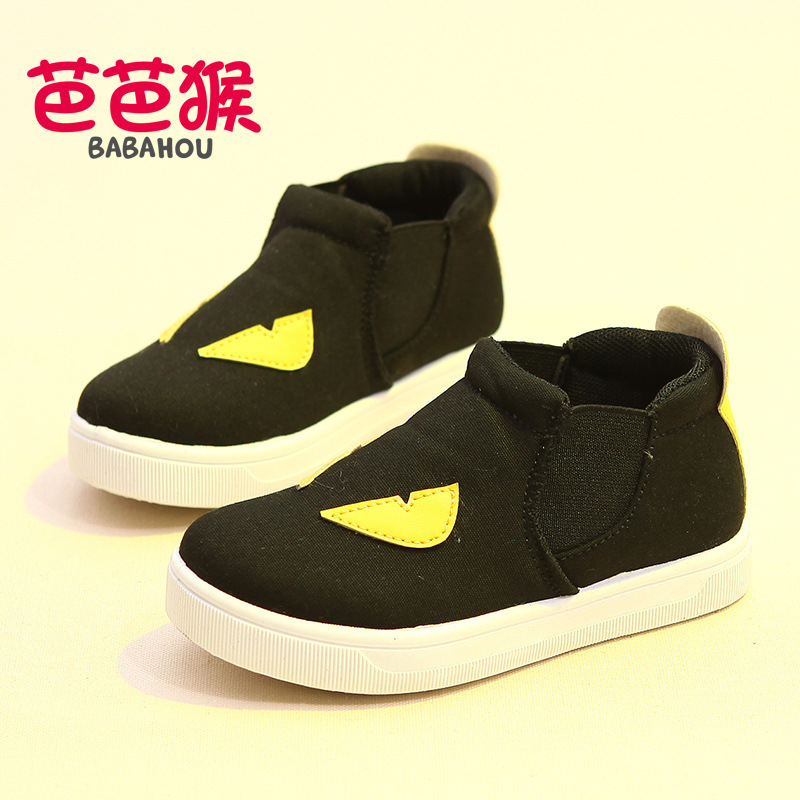 Barbara monkey shoes high to help children canvas shoes girls shoes 2016 korean version of the influx of baby shoes boys casual shoes