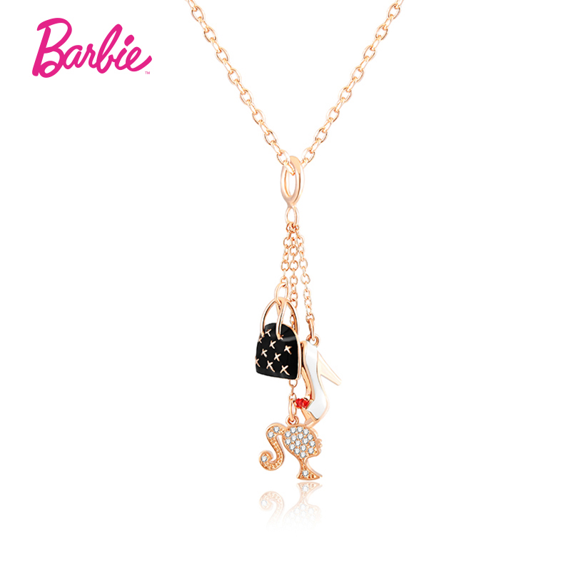 Barbie/barbie fashion barbie class 3a zircon ladies shoes and bags style necklace