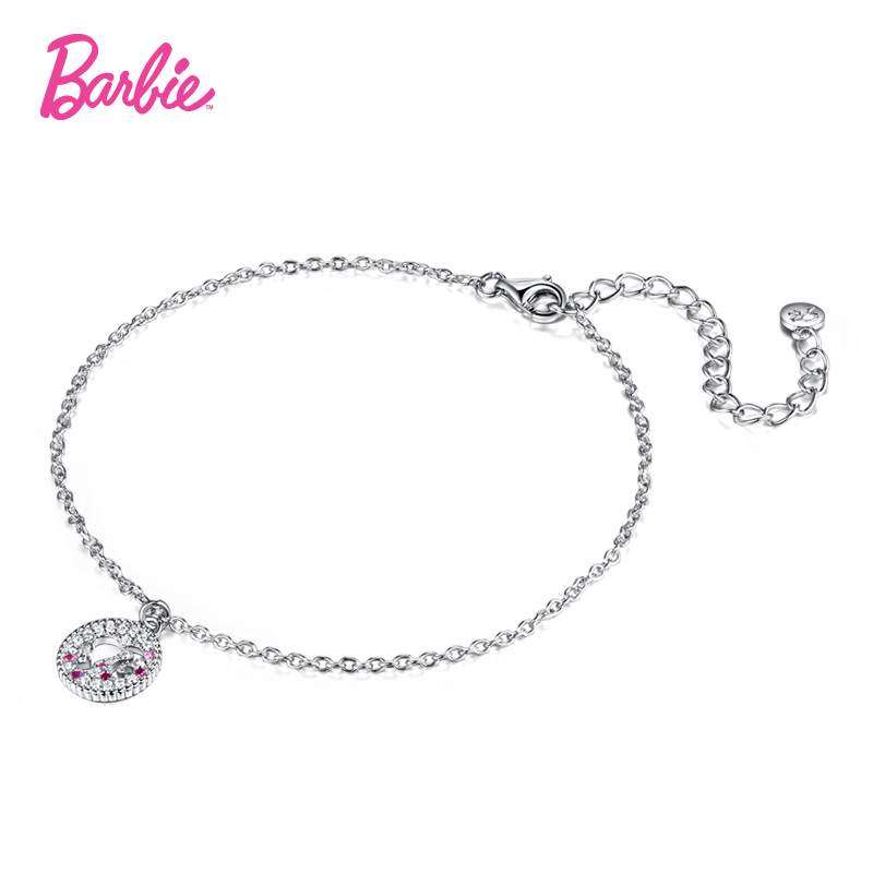 Barbie/barbie fashion silhouette hollow zircon jewelry 925 silver bracelet female fashion