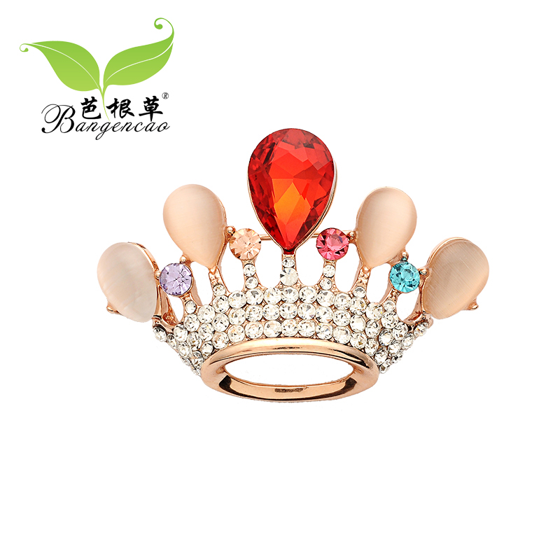 Barbie blades of grass opal crystal crown cute retro flower brooch scarf shawl buckle buckle collar clip brooch chest