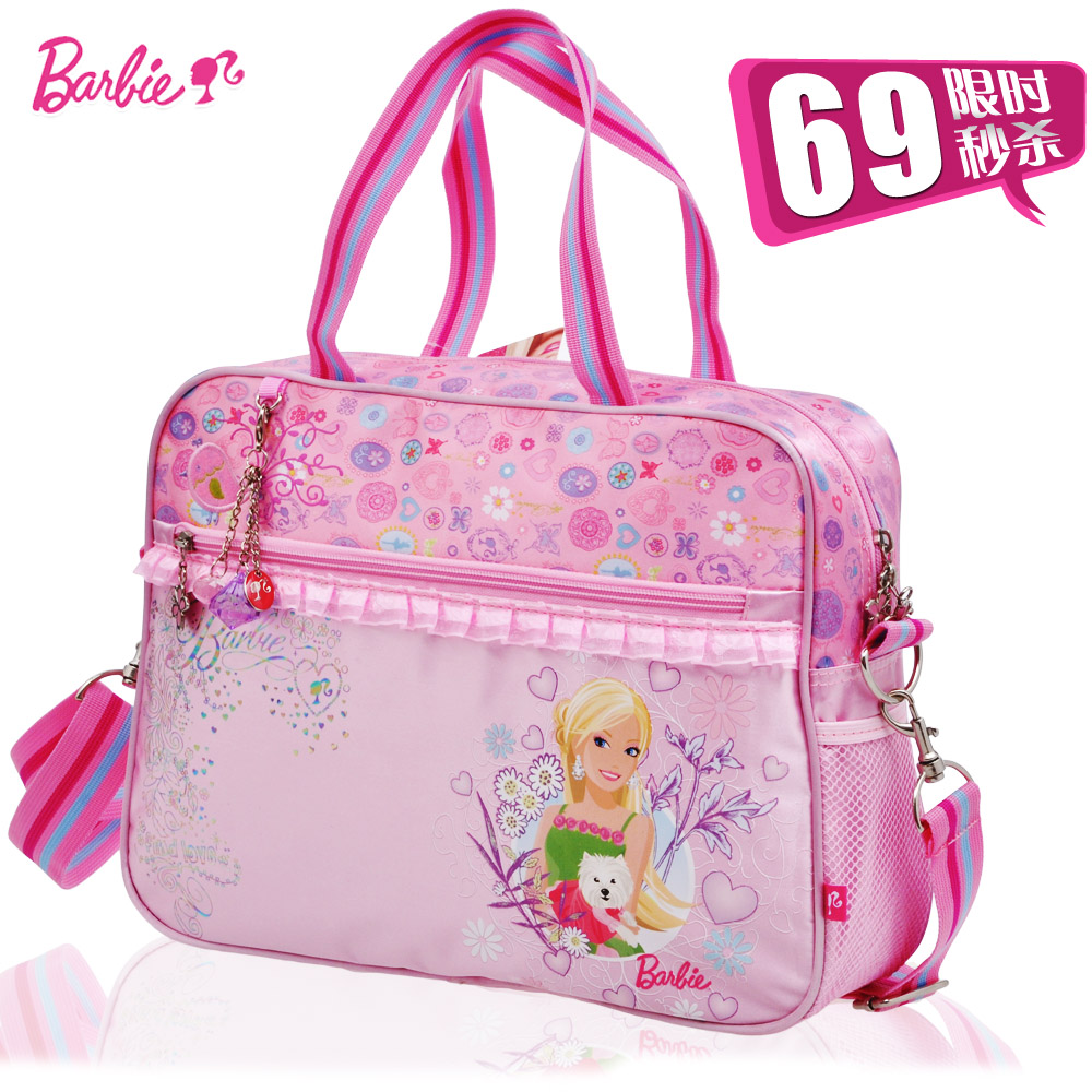 Barbie princess schoolbag grades girls primary school tutoring bag girls handbag messenger bag children bag