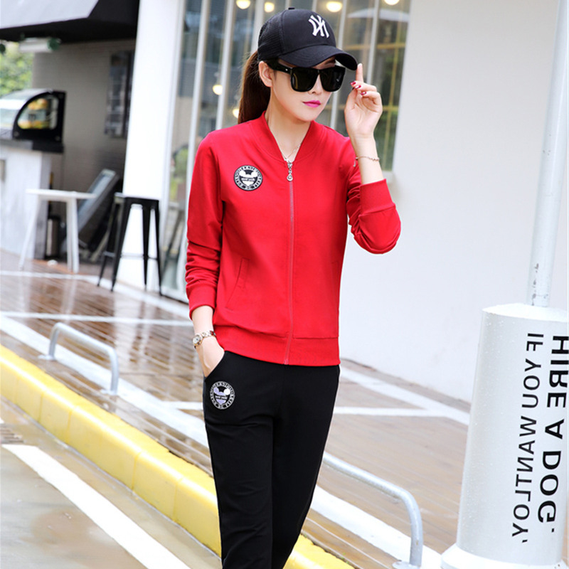 Baseball clothes casual couples suite 2016 autumn new casual sports fashion piece suit brand women