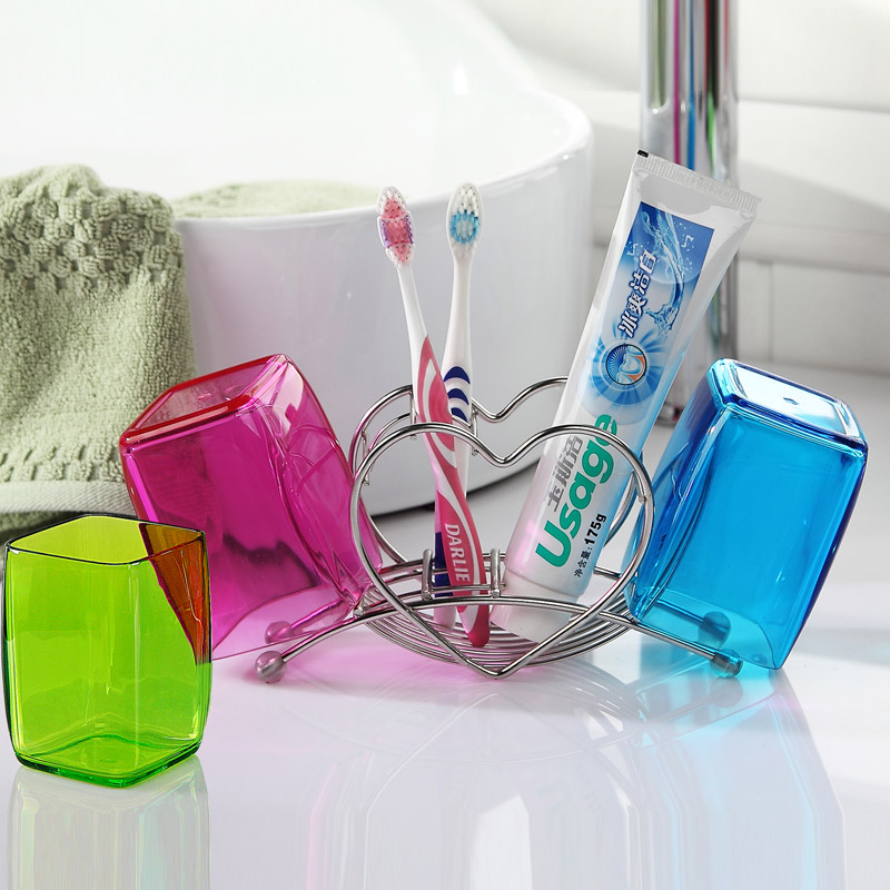 Bathroom toothbrush holder toothbrush holder wash suit couple cups cups brushing teeth cylinder cup rack teeth with toothbrush holder creative home bathroom