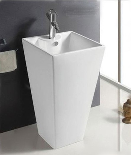 Bathroom washbasin column balcony bathroom ceramic art piece pedestal basin vanities one piece specials