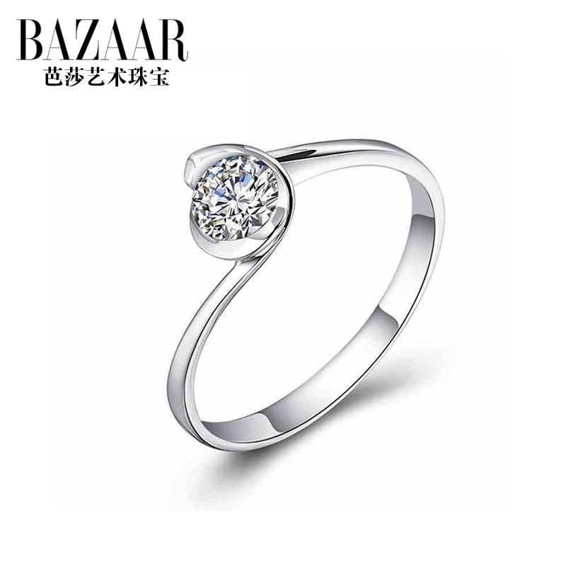 Bazaar jewelry s925 silver ring finger female multicolored diamond ring female couple on the ring finger ring in europe and america