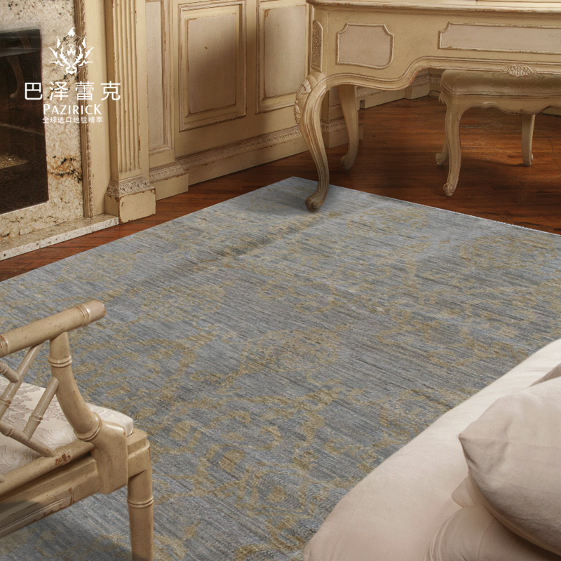 Baze leike india imported hand knotted wool minimalist modern style living room bedroom den carpet