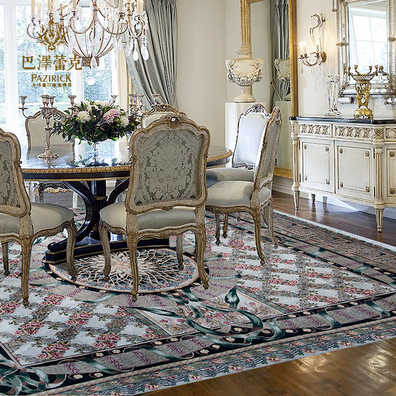 Baze leike pakistan knot imported handmade wool carpet european luxury living room bedroom new ancient code