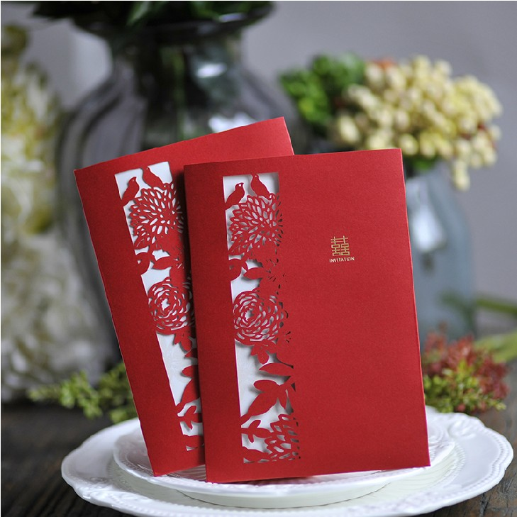 Bead wedding-chinese red wedding invitations/wedding invitations/chinese wedding invitations invitations creative custom/2015 of the new