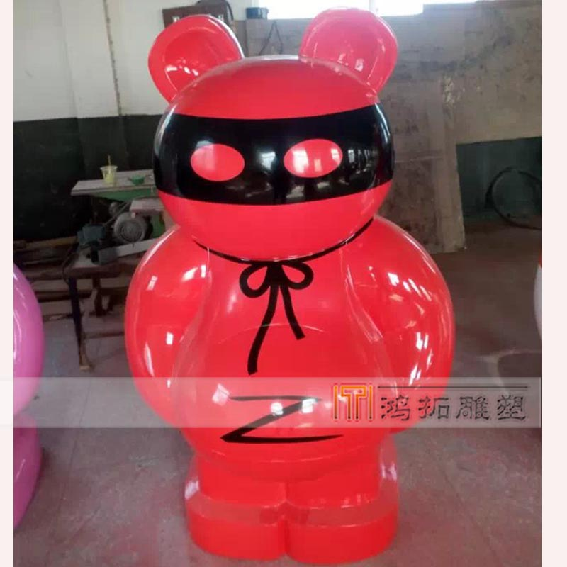 Bear bear cartoon painted sculpture sculpture sculpture sculpture fiberglass sculpture making blg01
