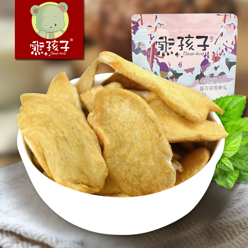 Bear children crisps pleurotus mushrooms 65g instant dehydrated vegetables dry snack food products