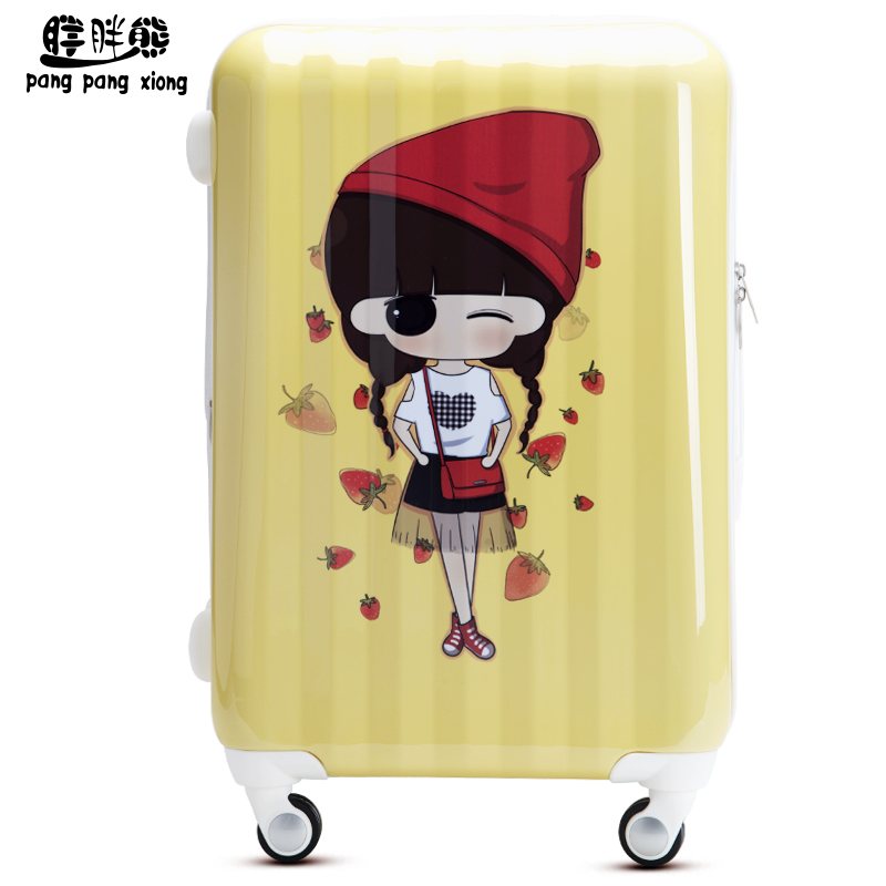 Bear fat influx of small greek and ashu cartoon trolley case suitcase caster board chassis luggage travel luggage line XXAS001