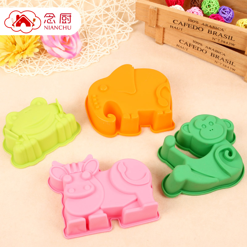 Bearing in mind the kitchen baking mold shaped cake mold temperature platinum silicone animal cartoon diy mold a set of four