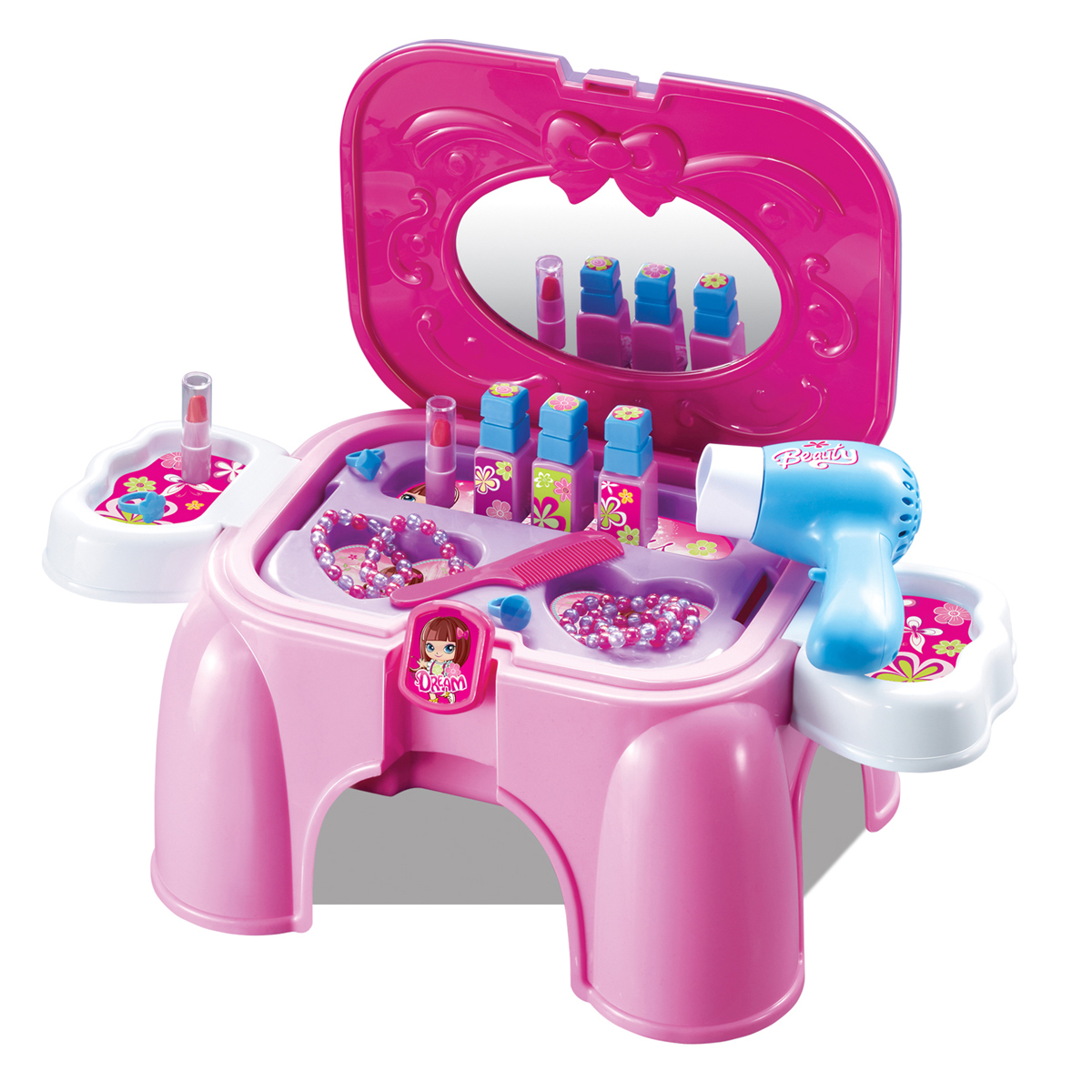 Beautiful happy xiongcheng dressing game toys for children gifts for girls play house multifunction chair