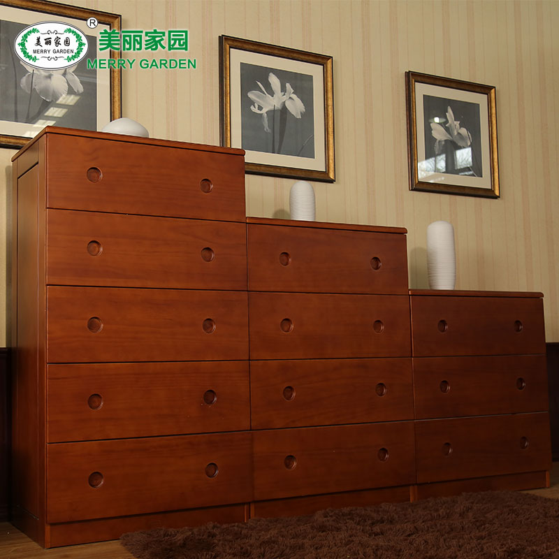 Beautiful home all solid wood three four five modern pine chest of drawers doo doo cabinet storage drawer storage closet