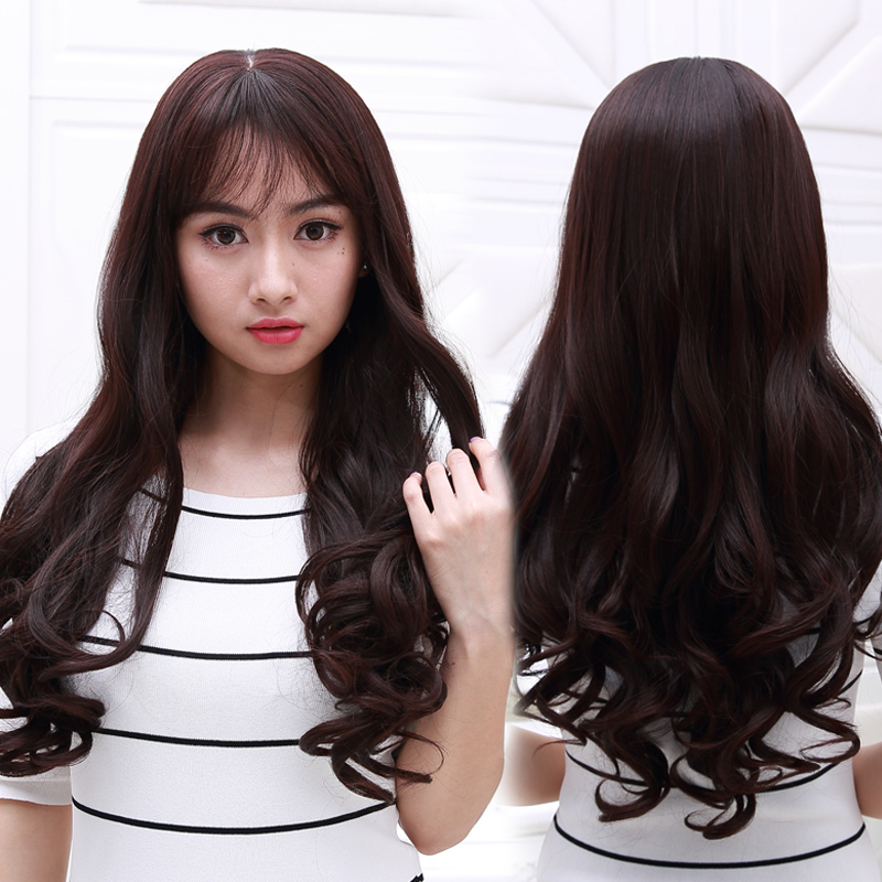 Bei site wig entire top female rools air bangs wig big wave of long curly hair pear fluffy hair wigs