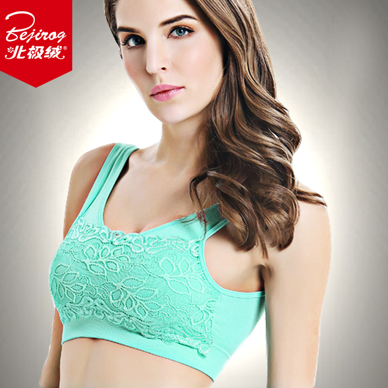 b3d058f1db970 Get Quotations · Beiji rong solid color lace embroidery bra women gather bra  sexy underwear shockproof sports bra elastic