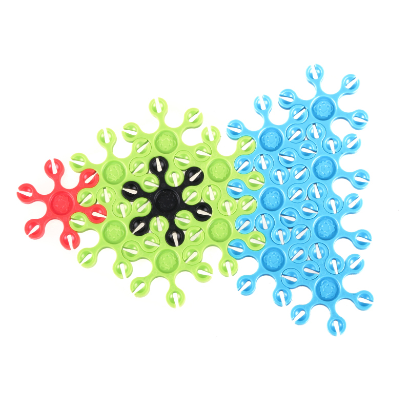 Beijing odd large children's educational toys fight inserted color film sheet oversized desk surface of the plastic snowflake piece jigsaw puzzle diy