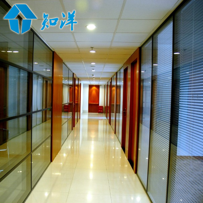 Beijing office furniture screen high partition office partition wall single glass shuangbo with a hundred leaves wall partition