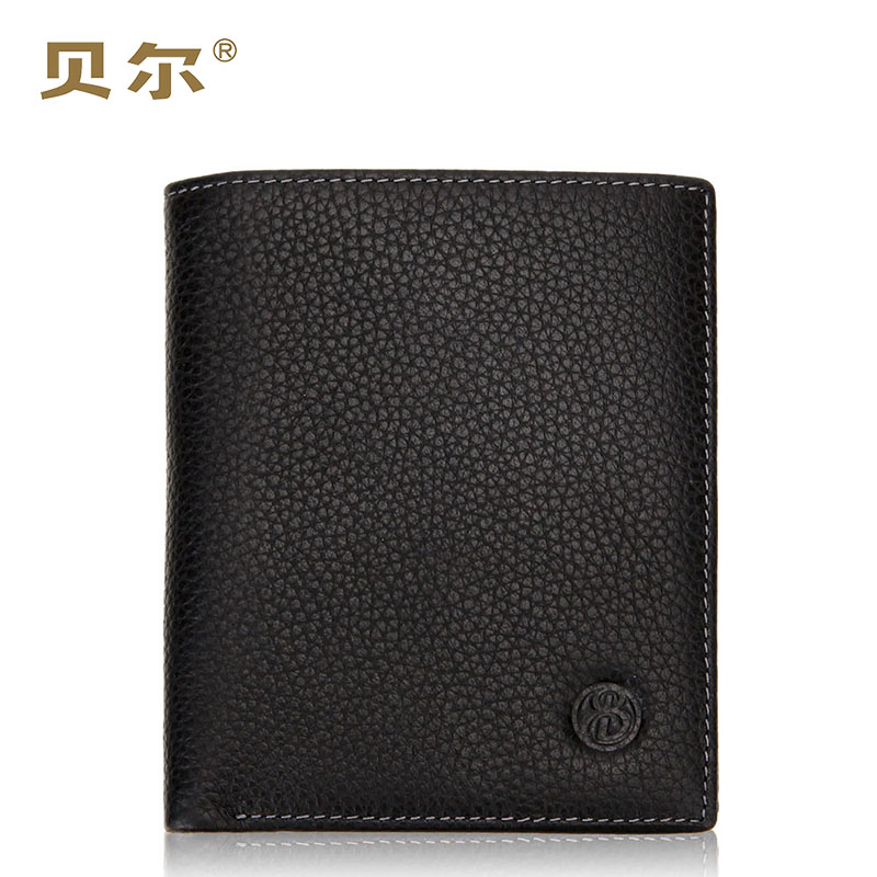 Bell first layer of leather wallet men short paragraph vertical section influx of men leather wallet business casual wallet wallets