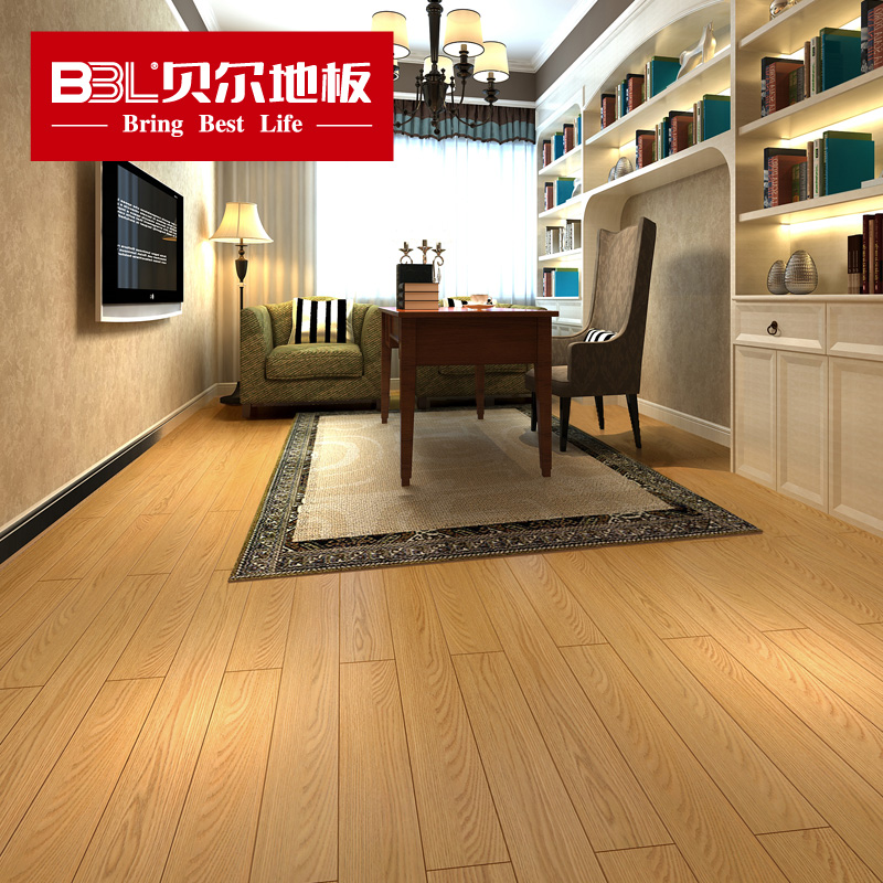 Bell flooring wood flooring laminate flooring laminate flooring factory direct light colored autumn jade tan