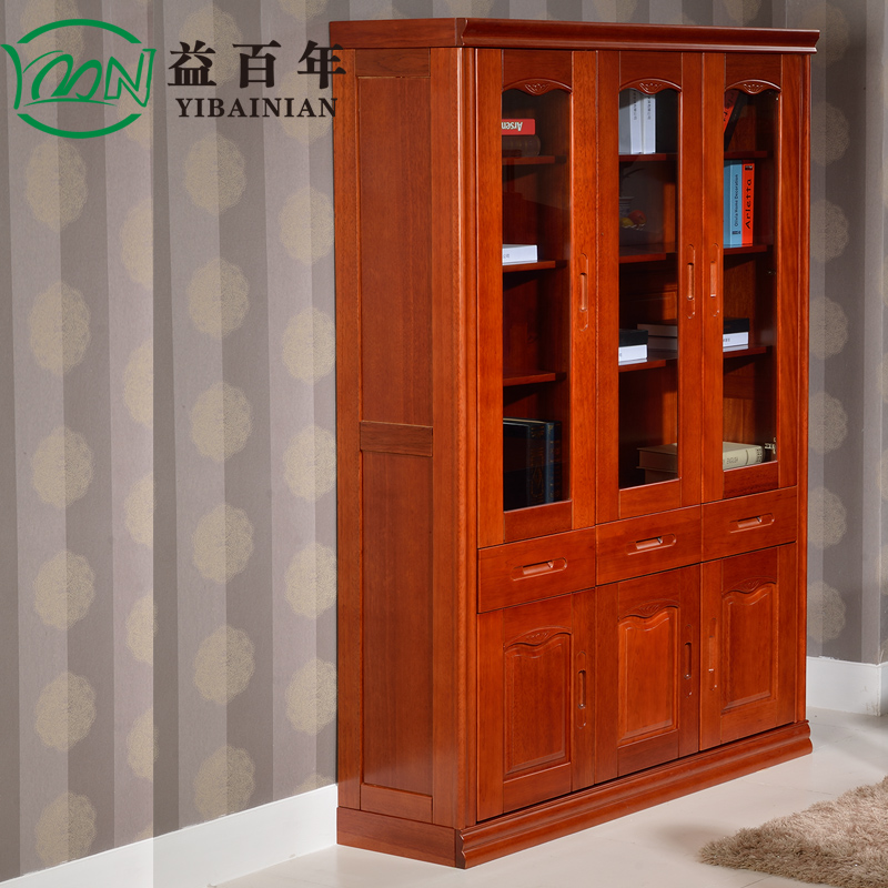 Benefits Of A Century Glass Door Bookcase Bookcase Bookcase Lockers Study  Of Solid Wood Sapele Color