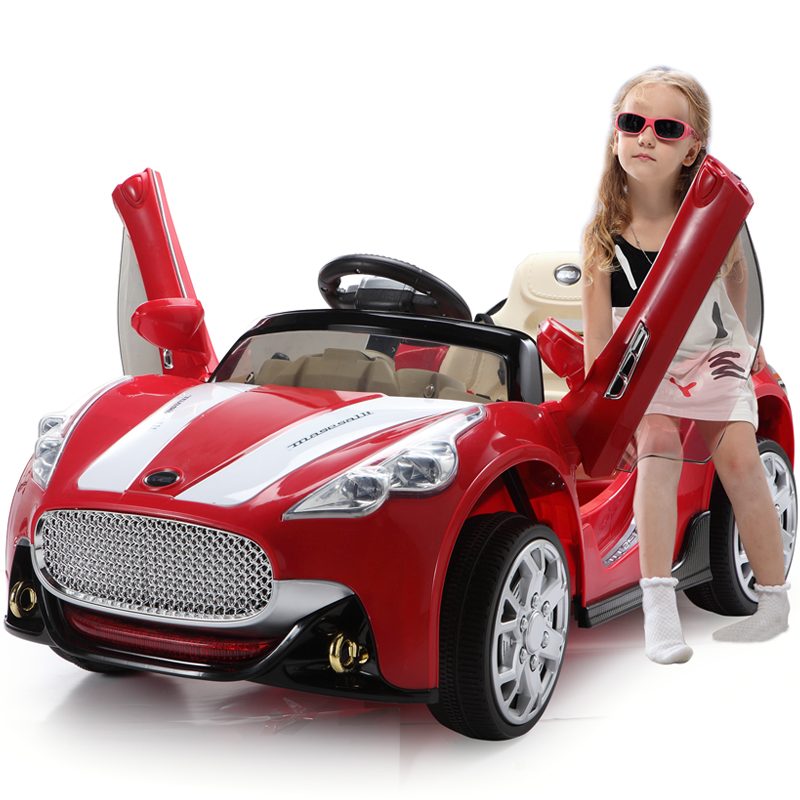Berry good children electric car stroller four remote dual drive can take electric sports car baby toy car