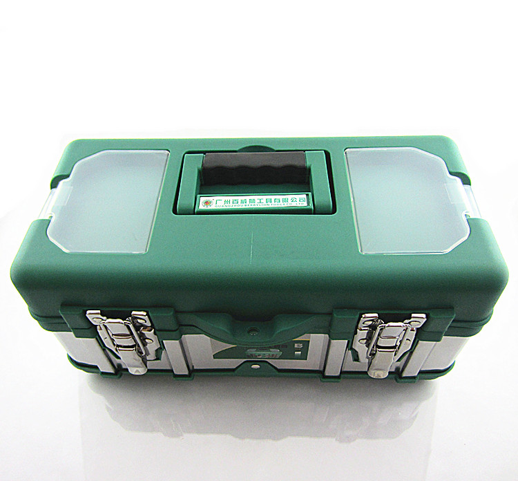 Berry lion stainless steel metal toolbox iron plastic toolbox multifunction home hardware on the second floor