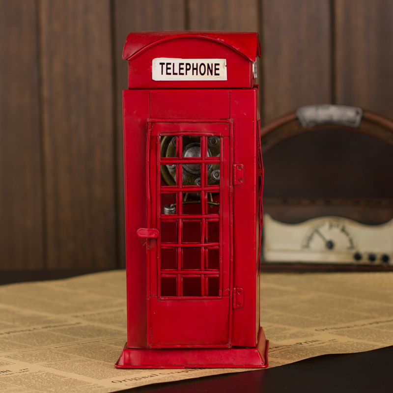 Get Quotations èŽŽèŠ Between British Streets Of London Phone Booth Painted Tin Toy Model Home Decor Furnishings