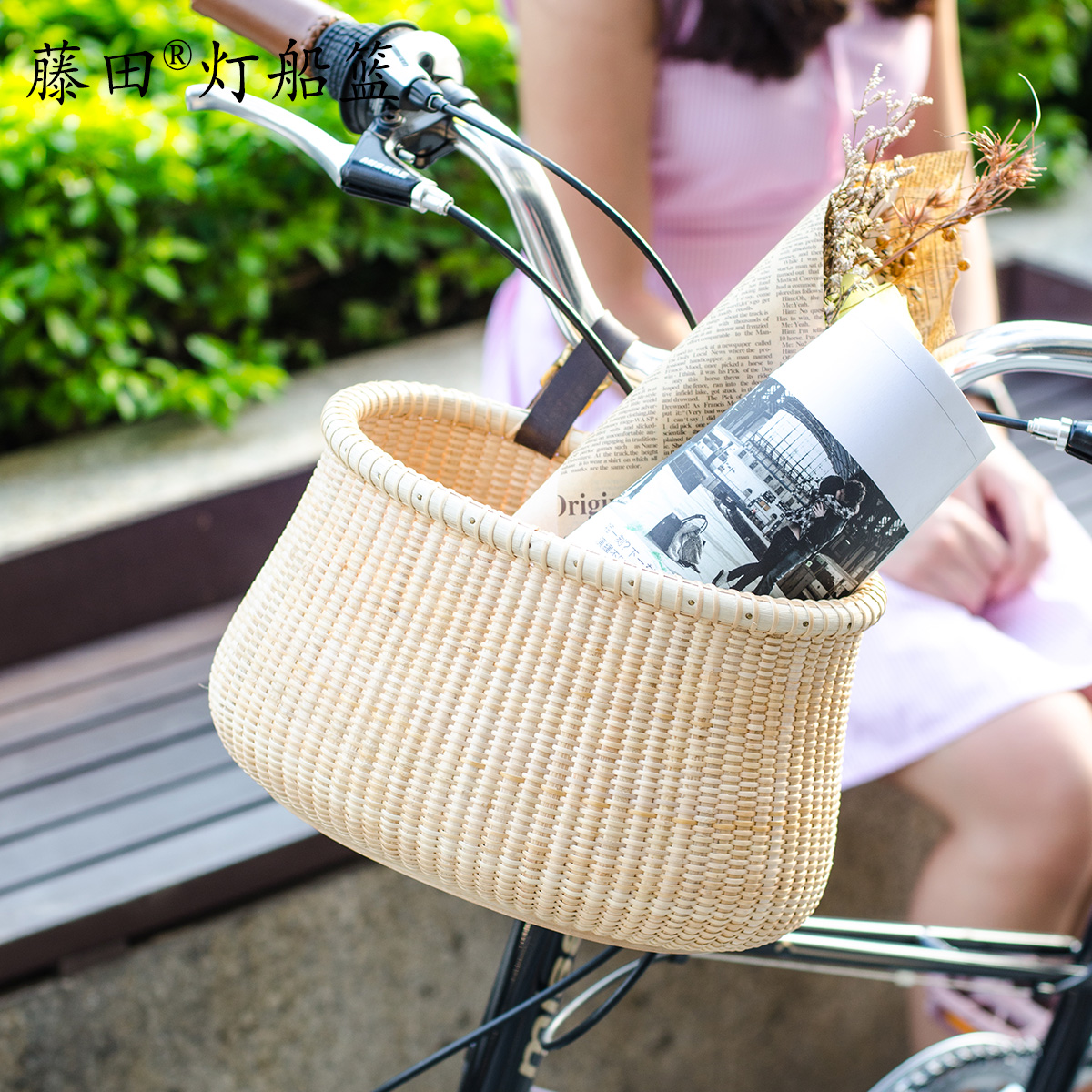Bicycle basket folding bicycle basket before the basket rattan basket basket basket shopping basket bicycle accessories