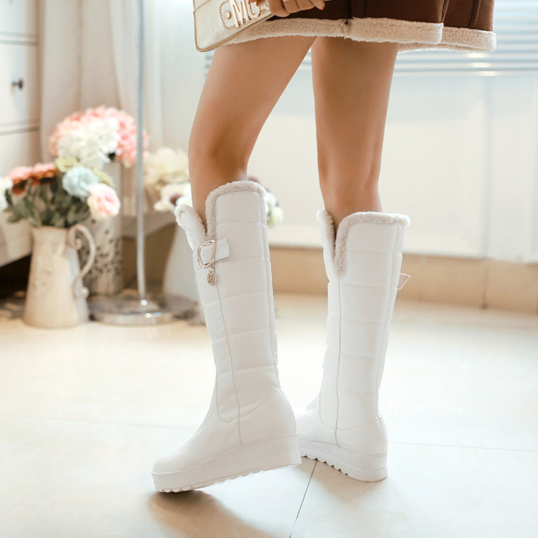 150e67dc3a04 Get Quotations · Big virgin girls princess shoes junior high school  students in autumn and winter boots fur boots