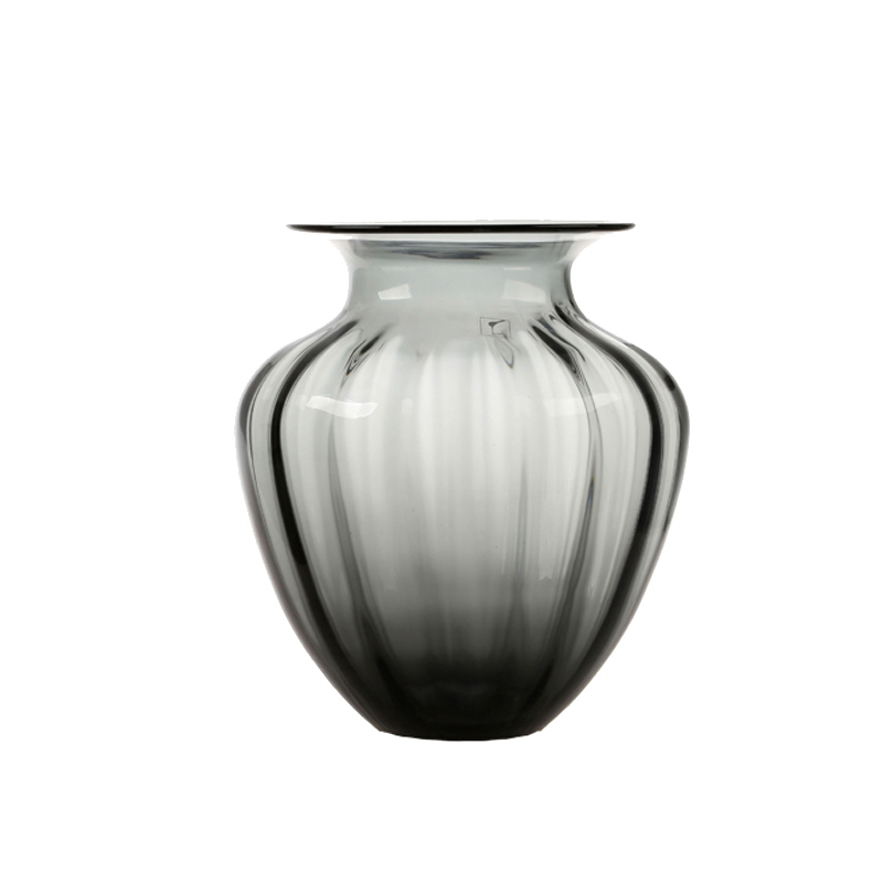 [Big way america] modern transparent glass vase multicolor