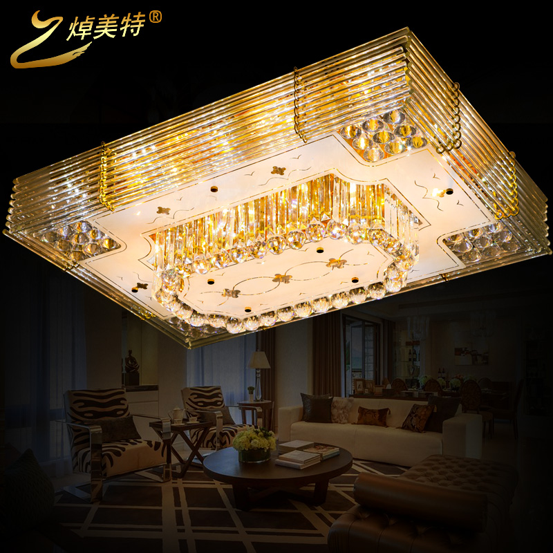 Billy us special modern minimalist luxury crystal lamp rectangular living room ceiling lamp bedroom lamp creative restaurant hall lighting