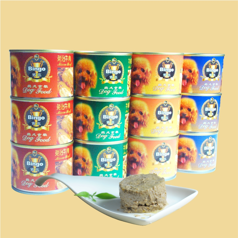 Bin high wet canned dog food bag 180g * 24 cans of dog food bin gao canned dog food pet zero food flavors to mix and match