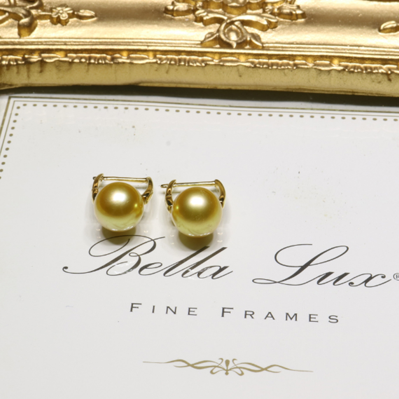 Bird pearl jewelry g18k gold days 8-40m3 9mm however kim seawater pearl earrings perfect circle glare