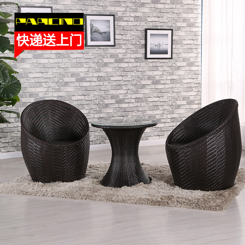 Bird's nest balcony chairs combination of five sets of tables and chairs for outdoor patio furniture rattan lounge chair rattan chair three sets