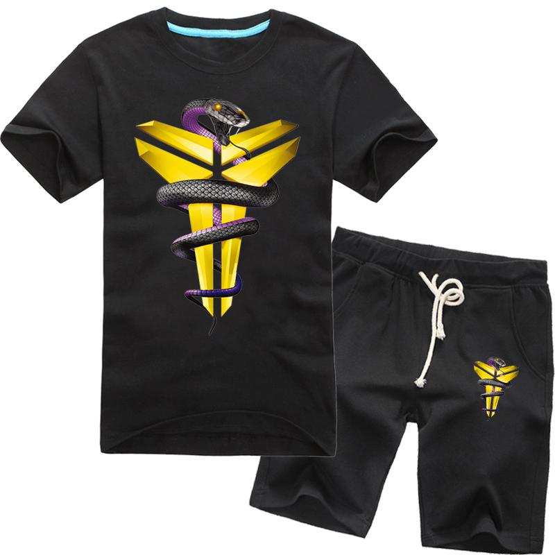 aad2758264b Get Quotations · Black mamba kobe bryant retired commemorative t-shirt  short sleeve training suit xl summer youth