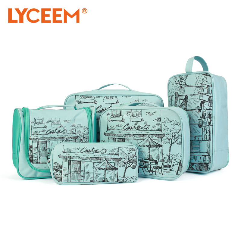 Blue orange travel pouch wujiantao waterproof bag luggage sorting clothes underwear storage essential travel packages
