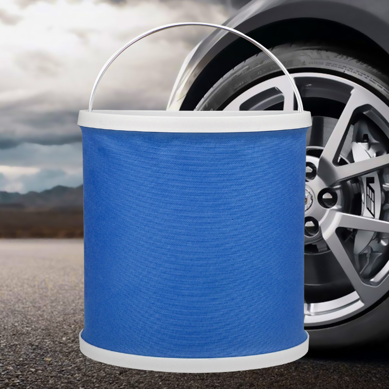 Blue passers 9 l large thick fishing bucket bucket portable folding bucket car wash brush car tools auto supplies