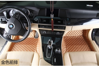 Bmw 3 series convertible/bmw x1/mini/mini tyrant gold footpads dedicated wholly surrounded by green leather